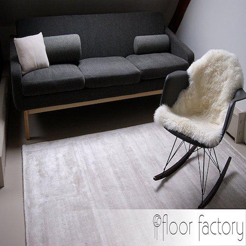 Alfombra vintage Lounge beige y crema