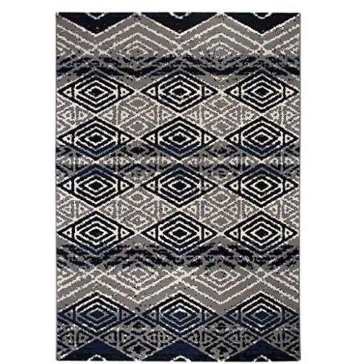 Vintage alfombra de pelo corto azul gris alfombras vintage - Alfombras de pelo corto ...