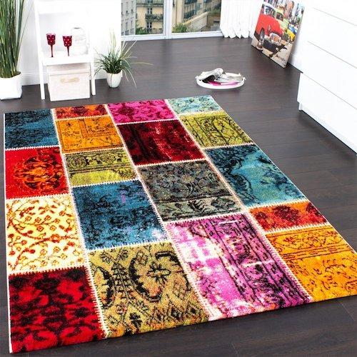 Alfombra estilo vintage patchwork