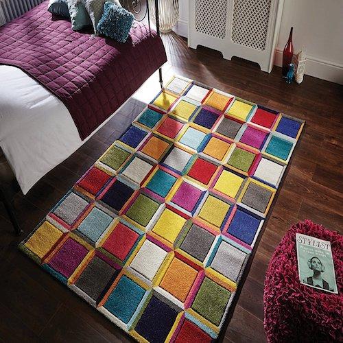 alfombra diseo vintage abstracto - Alfombras De Diseo