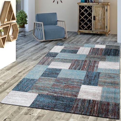 Alfombra vintage azul turquesa alfombras vintage for Diferentes tipos de alfombras