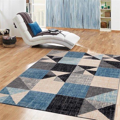 alfombra vintage azul turquesa alfombras vintage