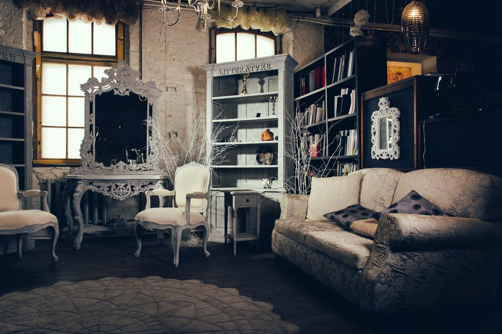 Como decorar un salón estilo vintage