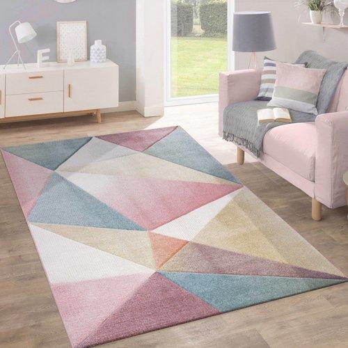 alfombra diseo vintage en tonos pastel - Alfombras Vintage