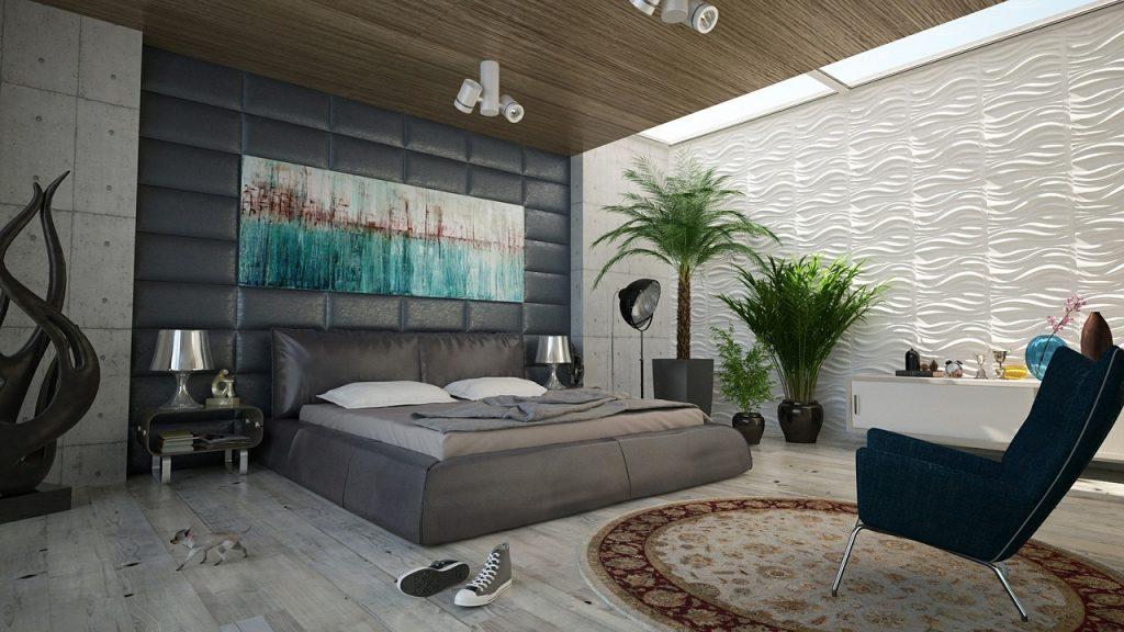alfombra para decorar dormitorio